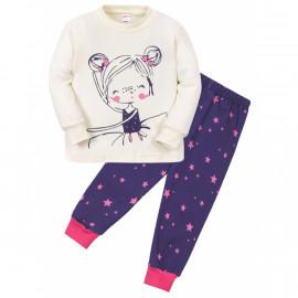 Пижама для девочки Девочка, экрю