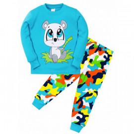 Пижама для мальчика Панда, бирюзовый