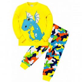 Пижама для мальчика Дракон, желтый