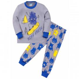 Пижама для мальчика Монстрик, серый