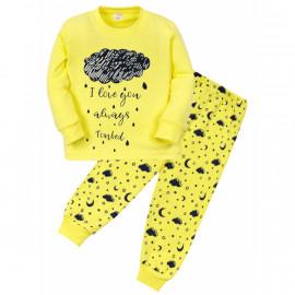 Пижама для девочки Тучка, желтый