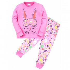 Пижама для девочки Зайка, розовый