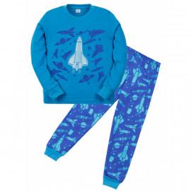 Пижама для мальчика Космос, синий