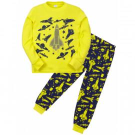 Пижама для мальчика Космос, желтый