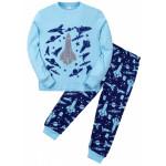 Пижама для мальчика Космос, голубой
