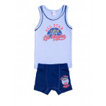 Комплект для мальчика (майка + боксеры), голубой