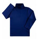 Водолазка детская однотонная интерлок, темно-синий