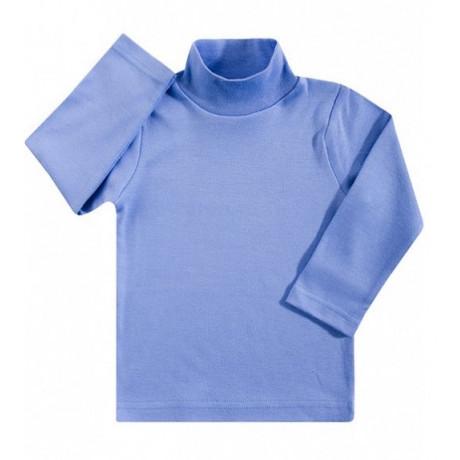 Водолазка детская однотонная интерлок, голубой