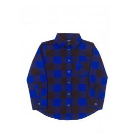 Рубашка для мальчика в клетку, синий