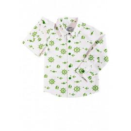 Рубашка для мальчика Штурвал, зеленый