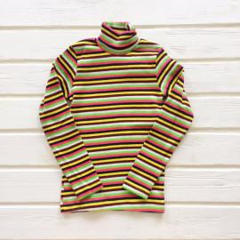 Водолазка для девочек и мальчиков в полоску, белый/желтый/черный/зеленый