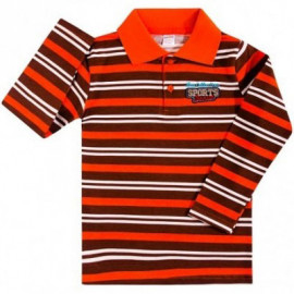 Рубашка поло для мальчика Полоска, оранжевый