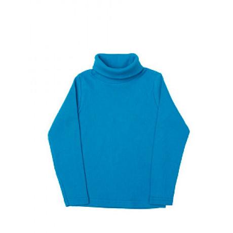 Водолазка для мальчиков и девочек однотонная в рубчик, голубой