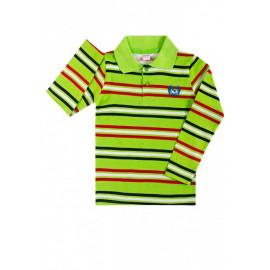 Рубашка поло для мальчика Полоска, салатовый