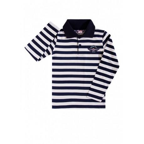 Рубашка поло для мальчика Полоска, черный