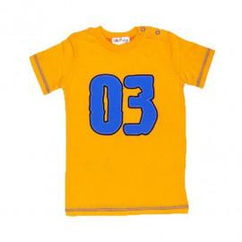 Футболка для мальчика Номер, оранжевый