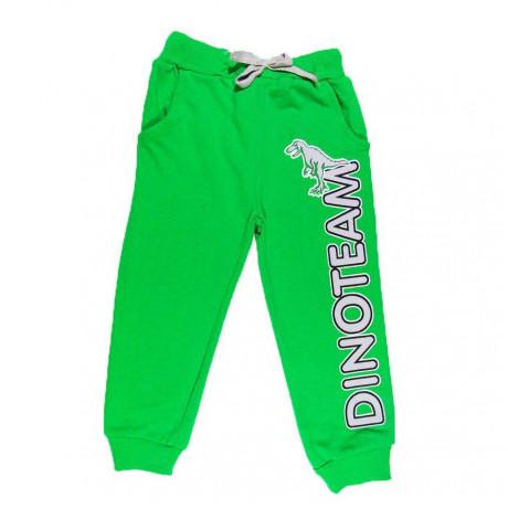 Брюки для мальчика Динозавр, зеленый