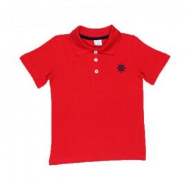 Рубашка поло для мальчика однотонная, красный