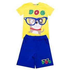 Костюм для мальчиков Дог, желтый/синий
