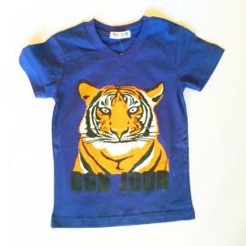 Футболка для мальчика Тигр, темно-фиолетовый