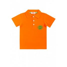 Рубашка поло для мальчика Вышивка, оранжевый