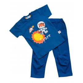 Костюм ясельный для мальчика Космос, синий