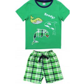Костюм для мальчика Дельфины, зеленый