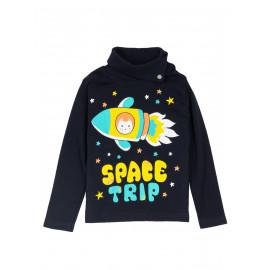 Водолазка для мальчика Space trip, черный