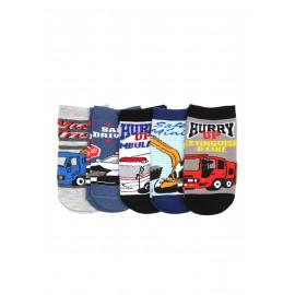 Носки укороченные для мальчика Транспорт, микс