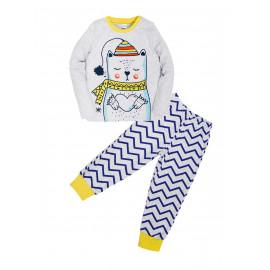 Пижама для мальчика Зебра, горчица