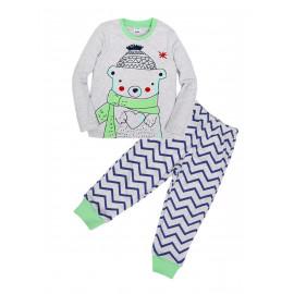 Пижама для мальчика Медведь, зеленый