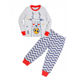Пижама для мальчика Олень, красный