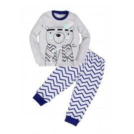 Пижама для мальчика Медведь, синий