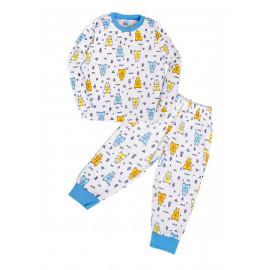 Пижама для мальчика теплая Walk in the woods , белый/ мишки