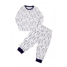 Пижама для мальчика теплая Tall giraffe, белый/жирафы