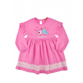 Платье для девочки Птички, розовый