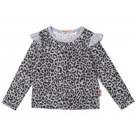 Блуза для девочки Леопард, меланжевый