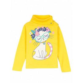 Водолазка для девочки Grace cat, нежно желтый