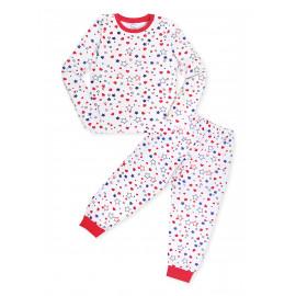 Пижама для девочки  теплая Звезды, белый