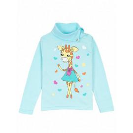Водолазка для девочки Giraffe dancer, нежно-голубой