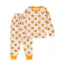 Пижама для девочки  теплая Cute rodents  , белый/ белочки