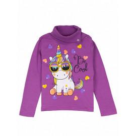 Водолазка для девочки Rainbow unicorn, фиолетовый