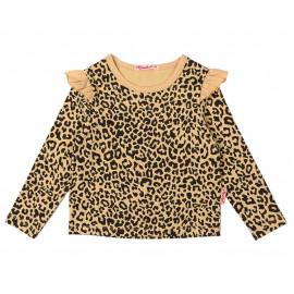 Блуза для девочки Леопард, бежевый