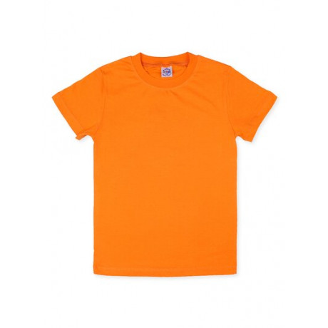 Футболка однотонная, оранжевый