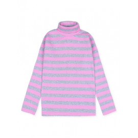 Водолазка детская в полоску, светло-розовый