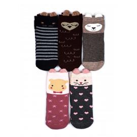 Носки махровые детские Ушки, микс