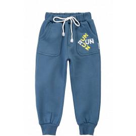 Штаны с начесом Run, джинсовый
