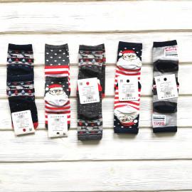 Носки новогодние  детские Санта, микс