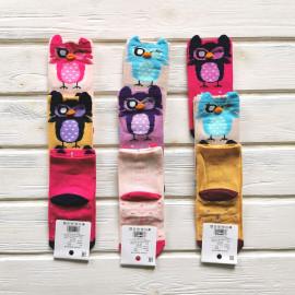Носки для девочки с ушками Совушка, микс