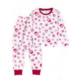 Пижама для девочки  теплая Cute little birds , белый/ совы